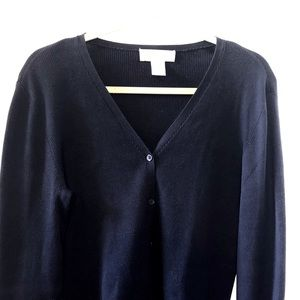 Navy Blue Brooks Brothers Button Down Sweater